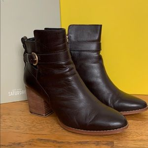 Kate Spade Saturday Ankle Boots in Chocolate